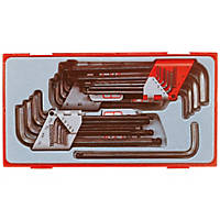 Teng Tools TTHT28 Metric, AF & TX Ball End Hex Key Set 28 Pcs