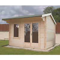 Shire Marlborough Log Cabin 2.99 x 3.59m