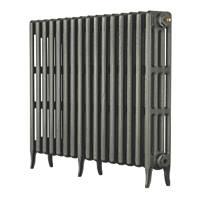 Arroll  4-Column Cast Iron Radiator 760 x 874mm Cast Grey