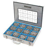Turbo Silver PZ Double Self-Countersunk Expert Trade Case 2800 Pcs