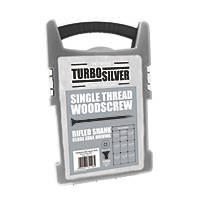 Turbo Silver PZ Double Self-Countersunk Woodscrews Grab Pack 1000 Pcs
