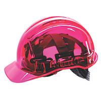 Portwest Peakview Translucent Vented Safety Helmet Pink