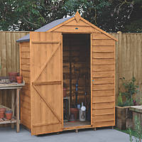 Forest  5' x 3' (Nominal) Apex Overlap Timber Shed