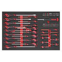 Teng Tools TTEMD122N Mixed  EVA Screwdriver & Bits Set 122 Pieces