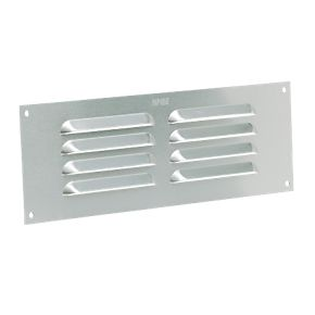 Map Vent Fixed Louvre Vent Silver 229 X 76mm Air Vents