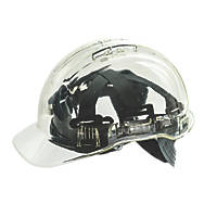Portwest Peakview Translucent Vented Safety Helmet Clear