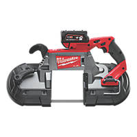 Milwaukee M18 CBS125-502C FUEL 125mm 18V 5.0Ah Li-Ion RedLithium Brushless Cordless Deep Cut Bandsaw