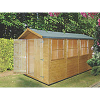 "Shire  6' 6"" x 13' (Nominal) Apex Shiplap T&G Timber Shed"