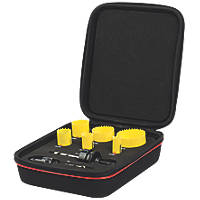 Starrett KFC06021 Multi-Material Electricians Fast Cut Holesaw Set 8 Pieces