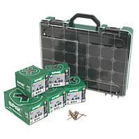 Spax Yellox PZ Flat Countersunk Woodscrews Trade Pack 1000 Pcs