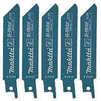 Makita B-20404 Reciprocating Saw Blades 100mm 5 Pack
