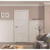 Jeld-Wen  Primed White Wooden 4-Panel Shaker Internal Door 1981 x 762mm
