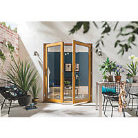 Jeld-Wen Kinsley Hardwood External French Door Set Golden Oak 1794 x 2094mm