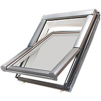 Site  Manual Centre-Pivot White Roof Window Clear 780 x 980mm