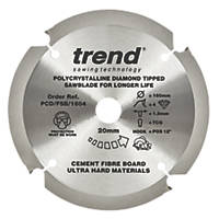 Trend Fibreboard Sawblade 160 x 20mm 4T