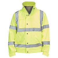 "Hi-Vis Lightweight Bomber Jacket  Yellow X Large 52"" Chest"