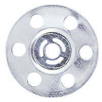 Timco Zinc-Plated Insulation Discs 35mm 100 Pack