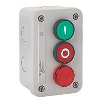Schneider Electric XALE33V2M Red & Green Push-Button Isolator Switch With Pilot Light