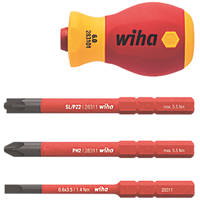 Wiha slimVario VDE Stubby Screwdriver Set 4 Pieces