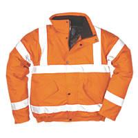 """Portwest  Hi-Vis Bomber Jacket Orange X Large 46-48"""" Chest"""