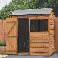 Forest  6' x 4' (Nominal) Reverse Apex Overlap Timber Shed with Base