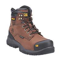 CAT Spiro   Safety Boots Dark Brown Size 8