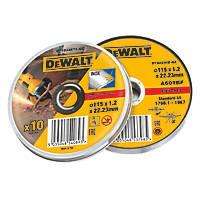 "DeWalt DT42335TZ-QZ Stainless Steel Metal Cutting Discs 4½"" (115mm) x 1.2 x 22.2mm 10 Pack"