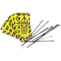 'Danger, Equipment Locked out' Safety Maintenance Tags 10 Pack