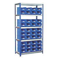 Barton Ecorax Shelving Blue 900 x 450 x 1800mm