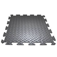 COBA Europe Deckplate Connect Anti-Fatigue Middle Mat Black 0.5m x 0.5m