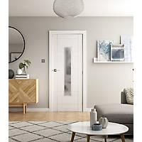 Jeld-Wen  1-Frosted Light Primed  Wooden Ladder Internal Door 2040 x 838mm