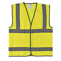 "Hi-Vis Waistcoat Yellow Large 50"" Chest"