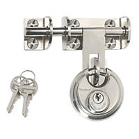 Master Lock Hasp & Staple with Disc Padlock Silver 116mm