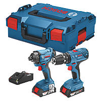 Bosch 06019G5172 18V 2.0Ah Li-Ion Coolpack  Cordless Combi Drill & Impact Driver Twin Pack