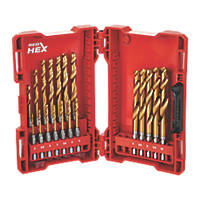 Milwaukee Hex Shank RedHex HSS Metal Drill Bit Set 19 Piece Set