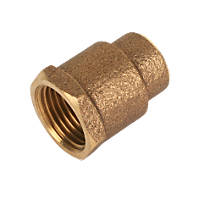 """Endex  Brass End Feed Adapting Female Coupler 15mm x ½"""""""
