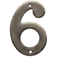 Carlisle Brass Ludlow Door Numeral 6, 9 Pewter Effect 78mm