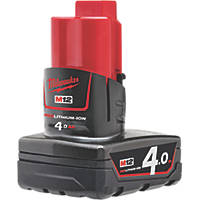 Milwaukee M12 B4 12V 4.0Ah Li-Ion RedLithium Battery