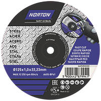 "Norton   Cutting Disc 5"" (125mm) x 1 x 22.23mm 5 Pack"