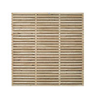 Forest  Double-Slatted  Fence Panel 6 x 6' Pack of 3