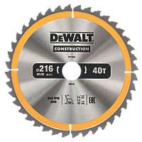 DeWalt General Purpose TCT Circular Saw Blade 216 x 30mm 40T