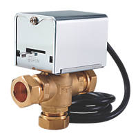 Flomasta 27901SX 3-Port Motorised Valve 22mm 22mm Compression