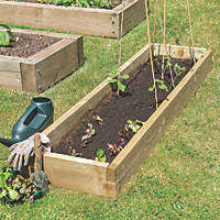 Forest Rectangular Raised Bed Natural Timber 1800 x 450 x 140mm