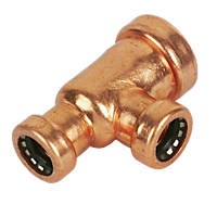 Tectite Sprint  Copper Push-Fit Reducing Tee 22 x 15 x 15mm