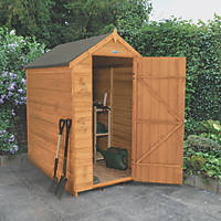 Forest 4' x 6' (Nominal) Apex Overlap Timber Shed with Base & Assembly