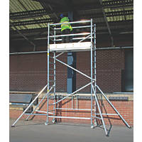 Lyte  Single Depth Aluminium Folding Work Tower System 3.1m