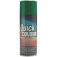 Quick Colour Spray Paint Gloss Green 400ml