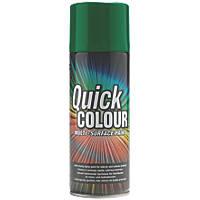 Quick Colour Spray Paint Gloss Green 400ml
