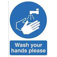 """Wash Your Hands Please"" Sign 420 x 297mm"