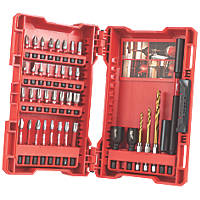 "Milwaukee Shockwave Impact Duty ¼"" Straight Shank Mixed Screwdriver Bit Set 39 Pieces"